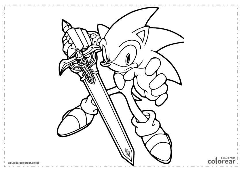Sonic con una espada