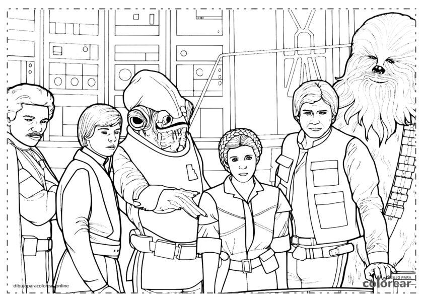 La princesa Leia, Luke Skywalker y Han Solo