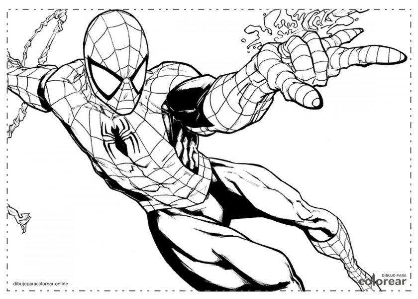 Spiderman lanzando su telaraña