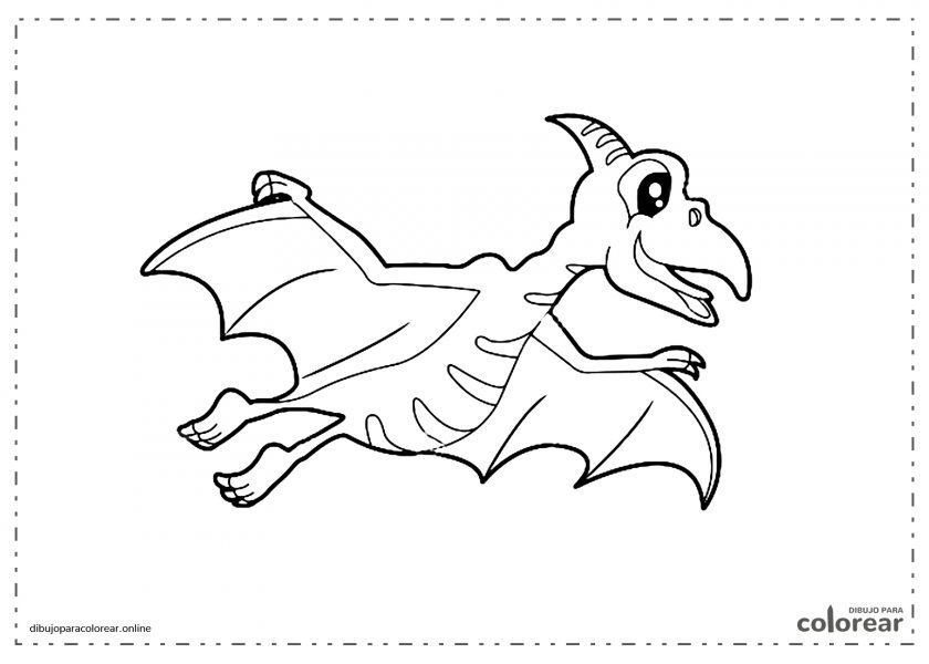 Pterodáctilo volando por el aire