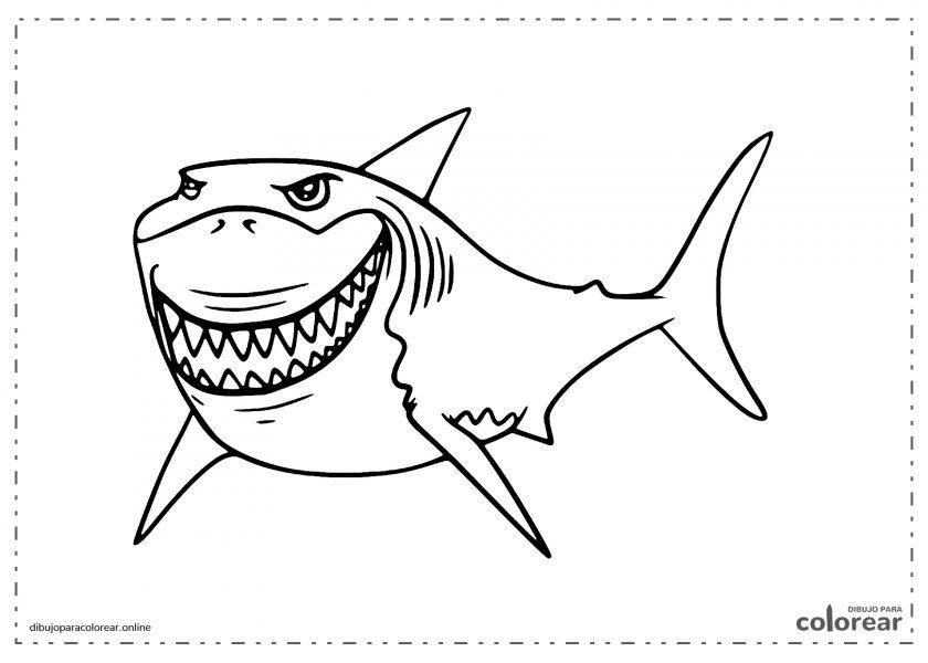 Tiburón peligroso de la película Buscando a Nemo
