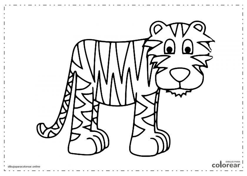 Tigre regordete de dibujos animados