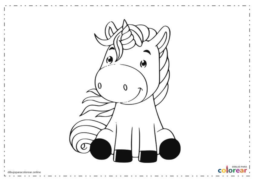 Unicornio sentado