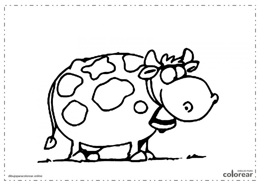 Vaca lechera de dibujos animados