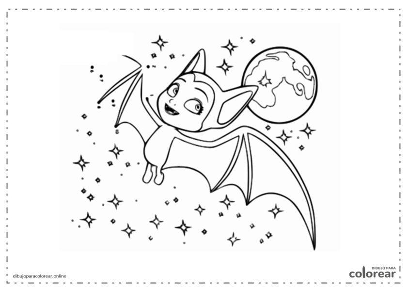 Vampirina volando alrededor de las estrellas