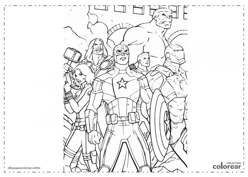 Los Vengadores (Marvel) mirando hacia arriba