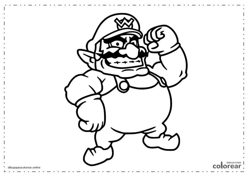 Wario, uno de los enemigos de Mario y Luiggi