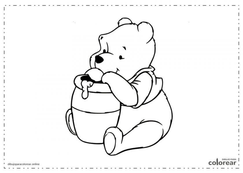 Winnie the Poo con su tarro de miel