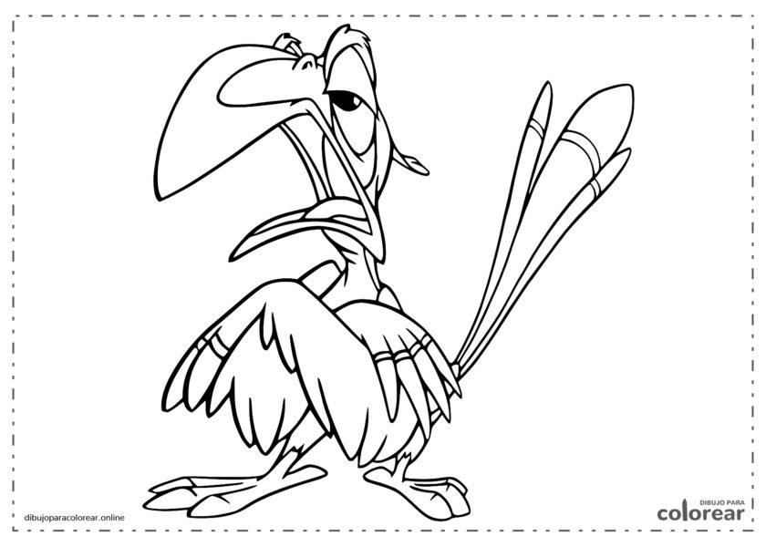 Zazu, el asesor de El Rey León de Disney